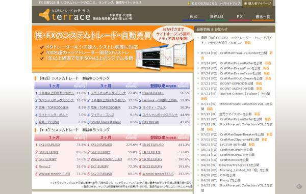 FX 日経225 株 システムトレードの口コミ、ランキング、販売サイト: テラス